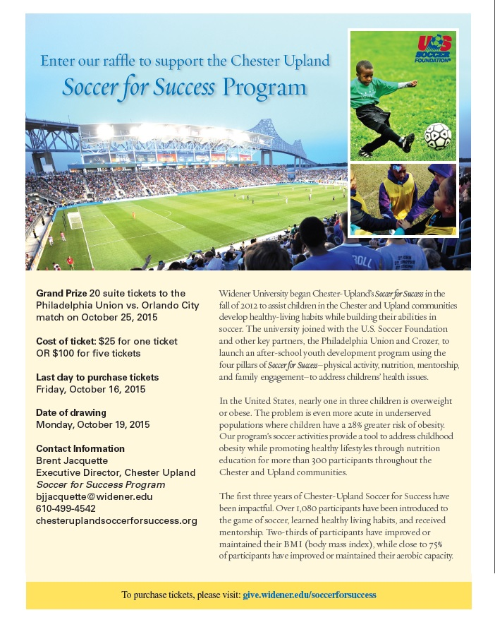 soccer for success flier