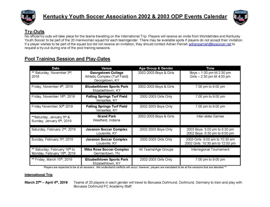 ODP Pool Calendar 02-03 Age groups - Adrian Parrish